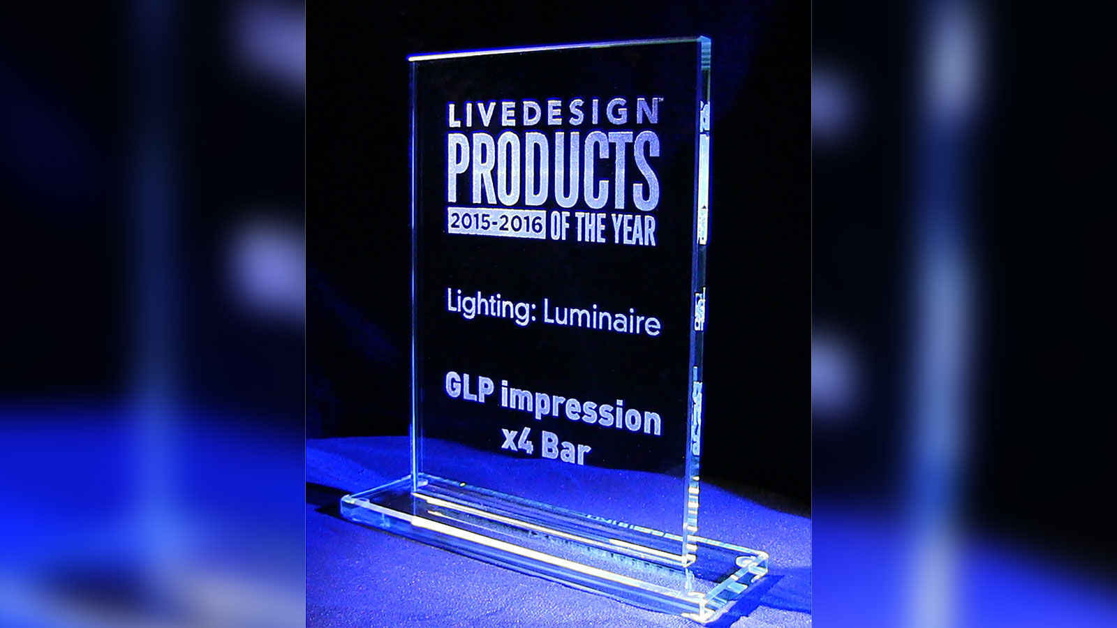 Live Design X4 Bar 20 Award